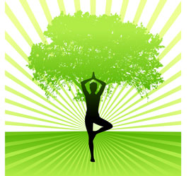 Yoga-and-tree