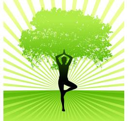 Yoga-and-tree